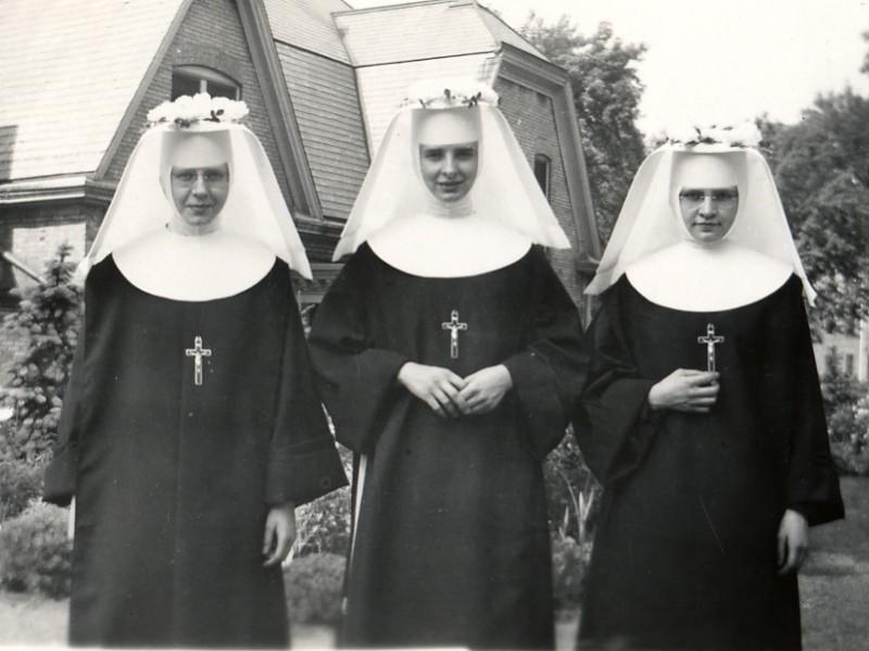 three nuns, joke, pornographic magazines, condoms