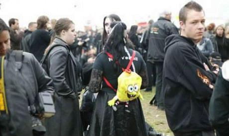 spongebob, goth, back pack, product