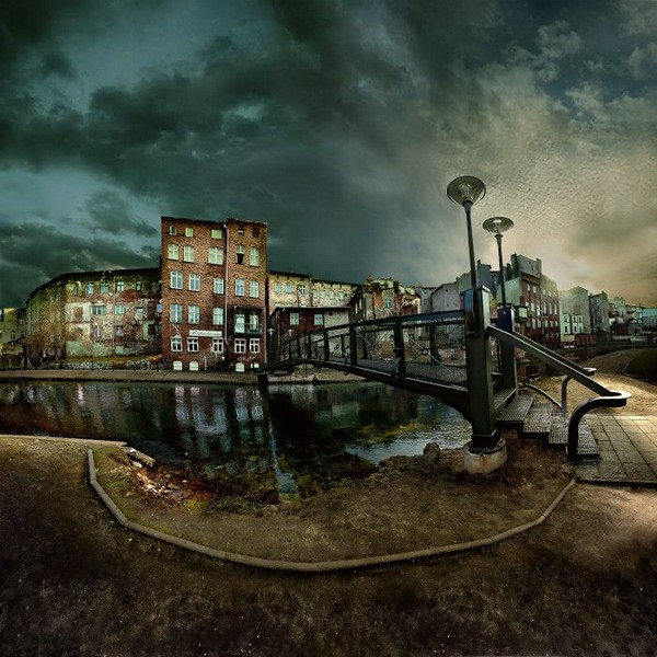 cool, city, bridge, canal, water, photography