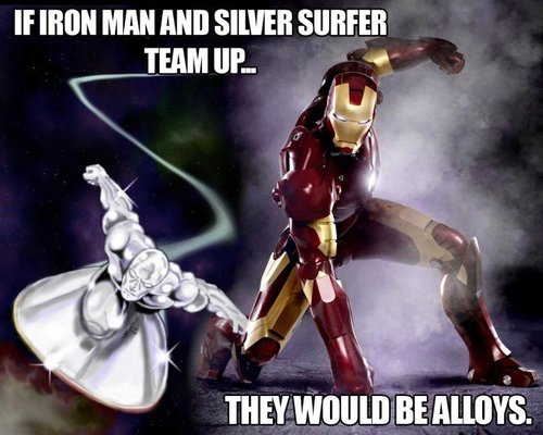 iron man, science, pun, joke, silver surfer