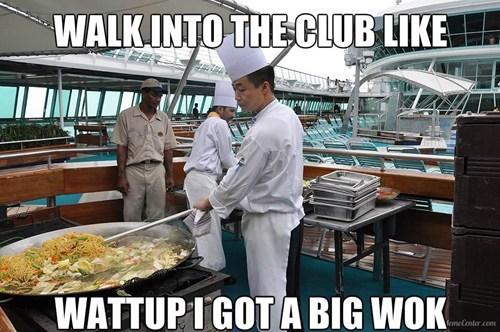 meme, walk into the club, wok