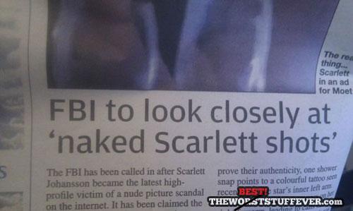 fbi, scarlett, naked, news paper