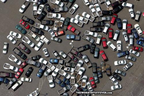 parking lot, cars, worst, chaos