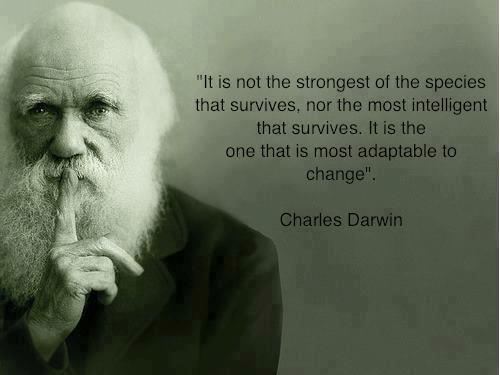 charles darwin, strength, intelligence, change, adaptation