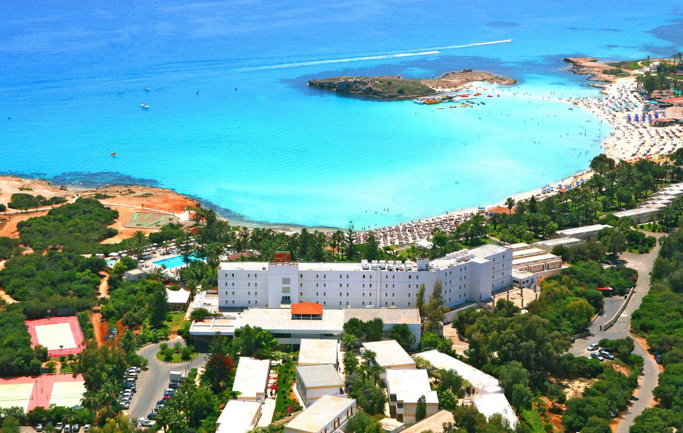 nissi beach, cyprus, nature, beautiful, scenery, resort