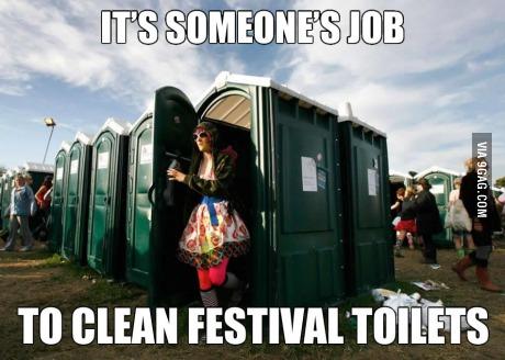 meme, toilet, portapotty, festival, job