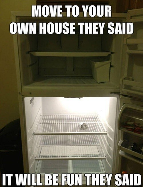 apartment, house, moving out, meme, empty refrigerator