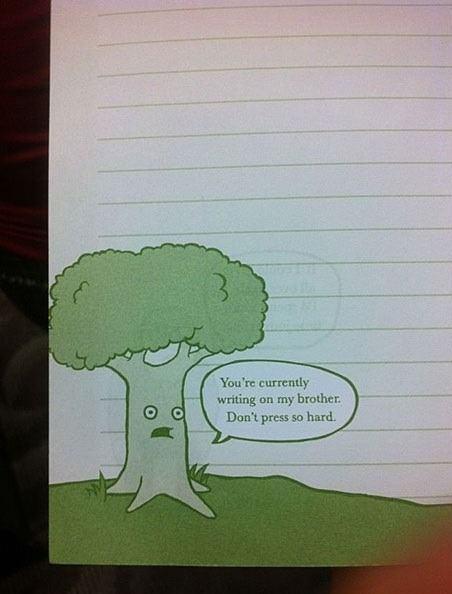 paper, guilt, tree