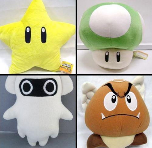 stuffed toy, win, mario, nintendo, star, ghost, mushroom, goompa