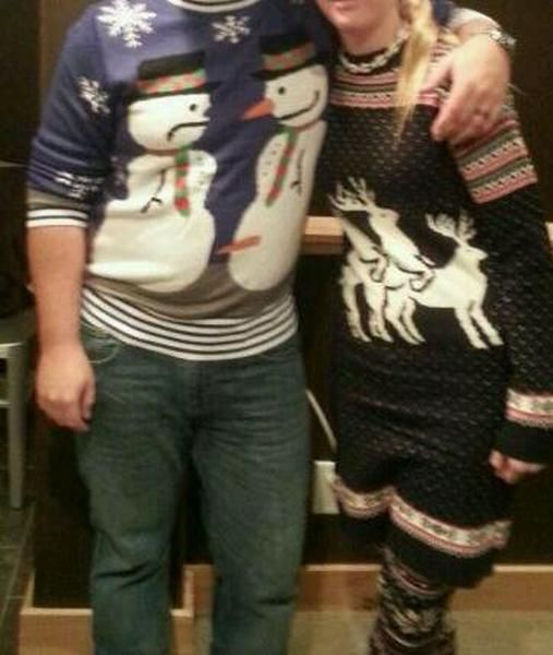 christmas sweater, snowmen, reindeer, wtf