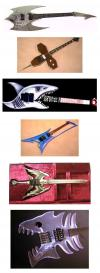 guitar, design, win, shark, cross, sharp, eagle