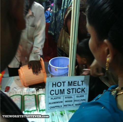hot melt cum stick, wtf, street vendor, food