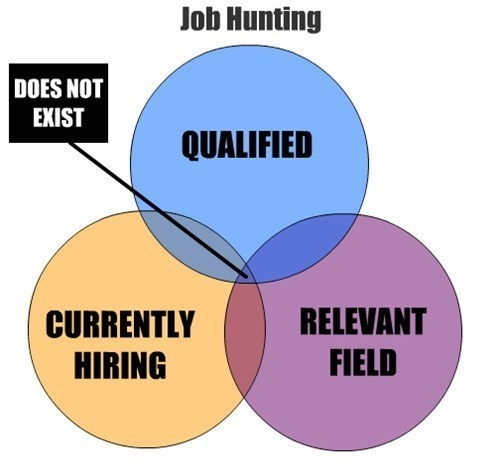 job hunting, graph, qualified, hiring, relevant