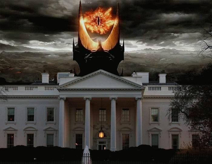 white house, eye of sauron, photoshop
