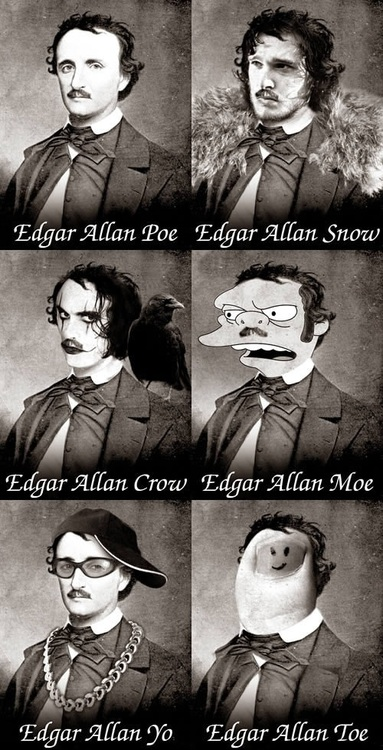 wordplay, edgar allan poe, photoshop, sequence