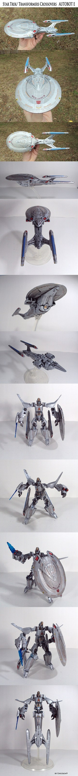 toy, model, star trek, enterprise, transformer