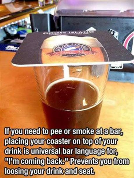 beer, coaster, bar, universal language, pee, seat, drink