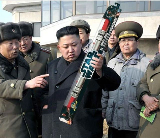 kim jong un, star wars, light saber