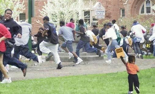 racist, stereotype, black kid, dad, run