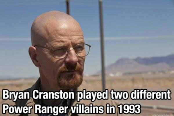 bryan cranston played two different power rangers villains in 1993