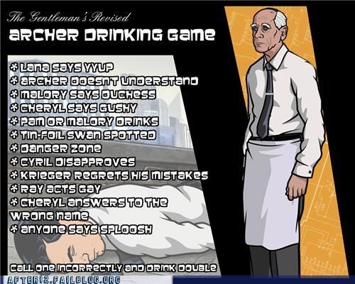 drinking game, archer