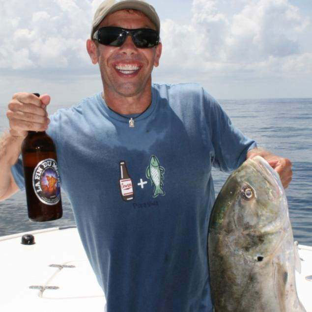 beer, tshirt, fishing