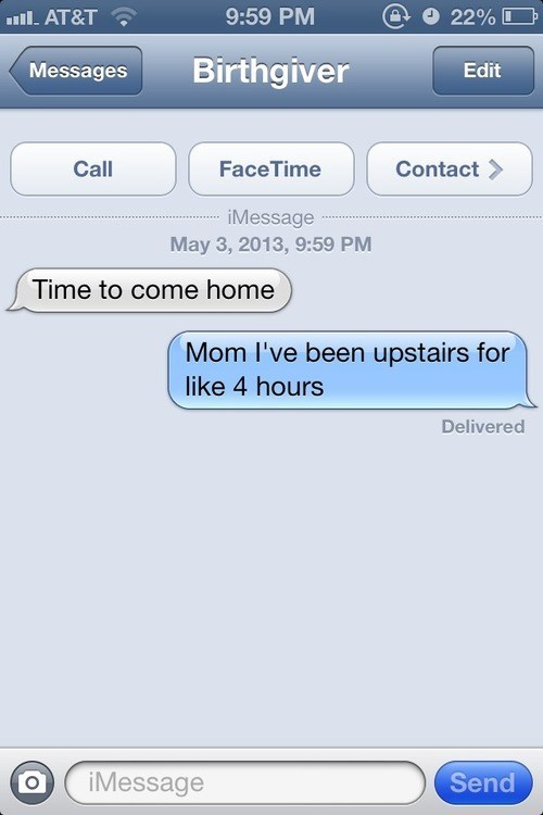 iphone, mother, home, lol