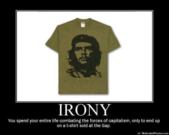che guevara, tshirt, capitalism, gap