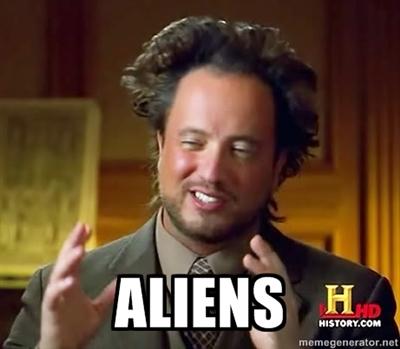 ancient aliens meme, history channel