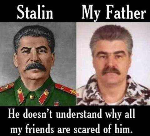 stalin, totallylookslike, fear, scared, father