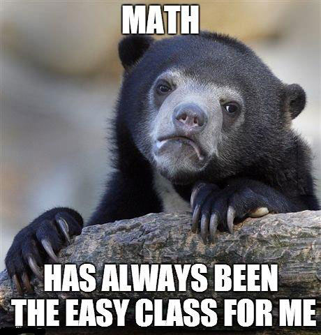 math, easy, confession bear, meme