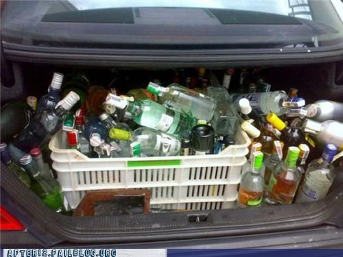 alcohol, trunk, full