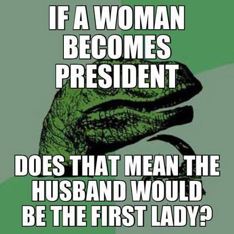 philoceraptor, woman president, male first lady, meme