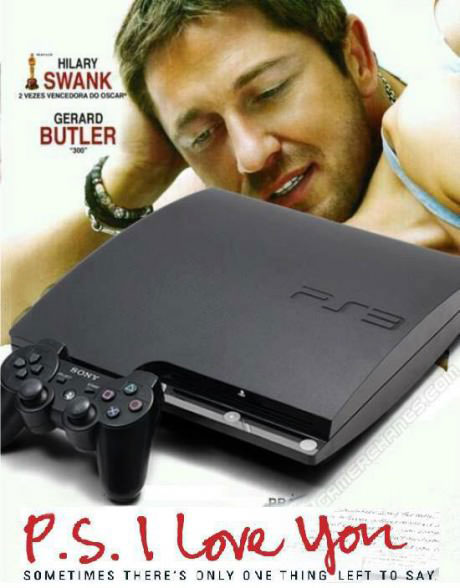 movie poster parody, ps i love you, playstation, gerard butler
