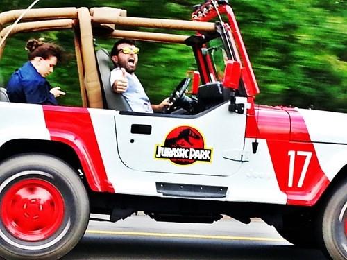 jurassic park, jeep, hacked irl