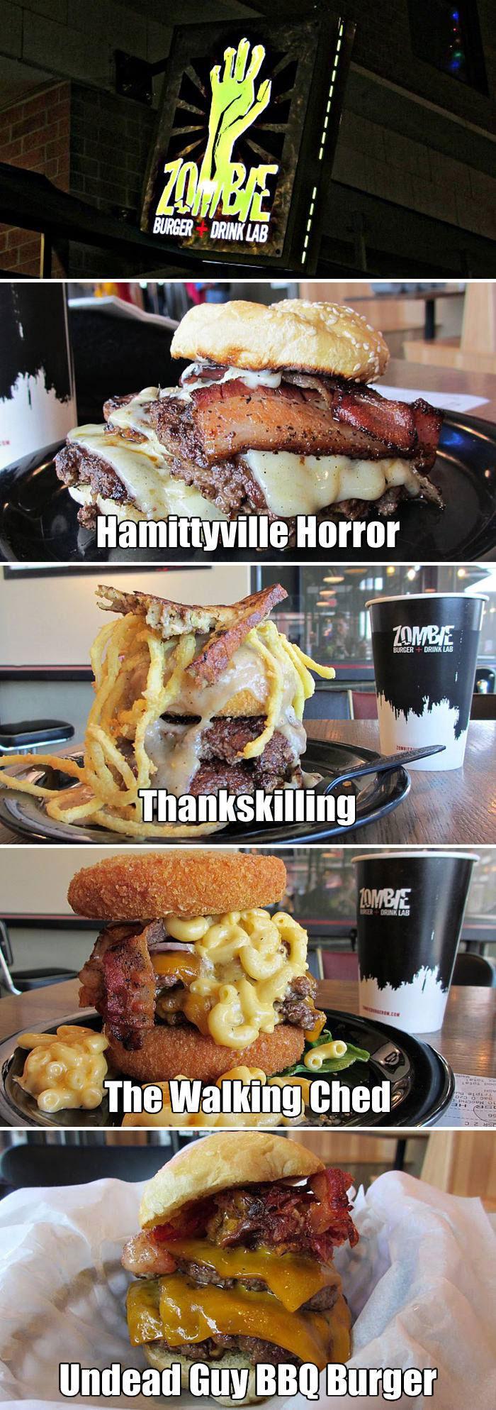 hamburger, theme, zombie