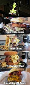 hamburger, theme, zombie