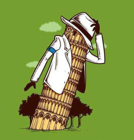 michael jackson, smooth criminal, leaning tower of pisa