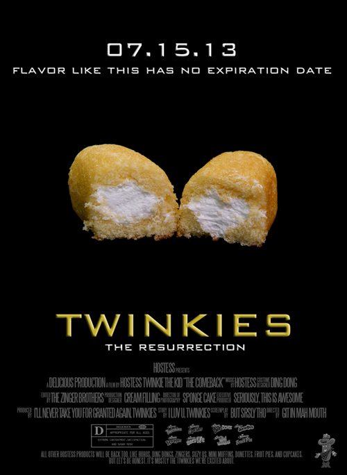 twinkies, come back, hostess, poster