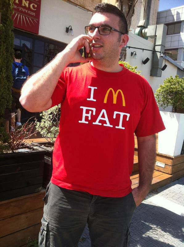 mcdonald's logo, tshirt, i'm fat