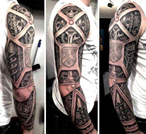 tattoo, 3d, steam punk