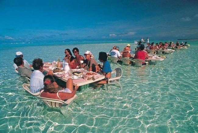 ocean, tropical, dinner, tables, water, win