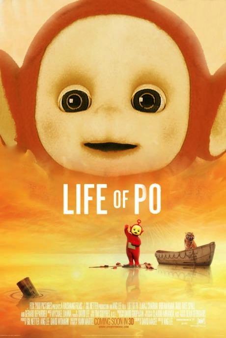movie poster parody, teletubbies, po