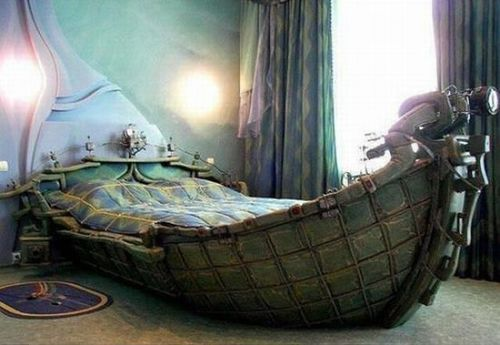 bed, boat, art, cool