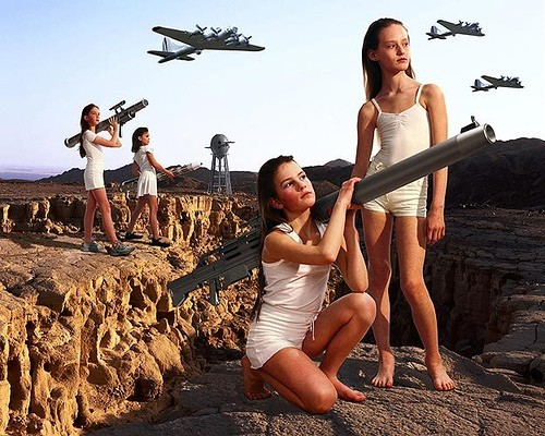 children, war, rocket launcher, fighter planes, wtf