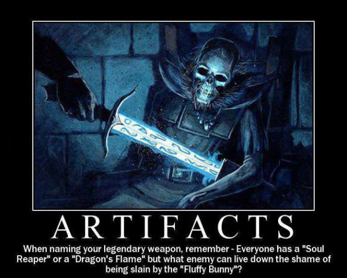 artifacts, names, rpg, games, weapons, fluffy bunny