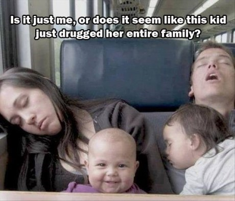 is it just me or does it seem like this kid just drugged her entire family