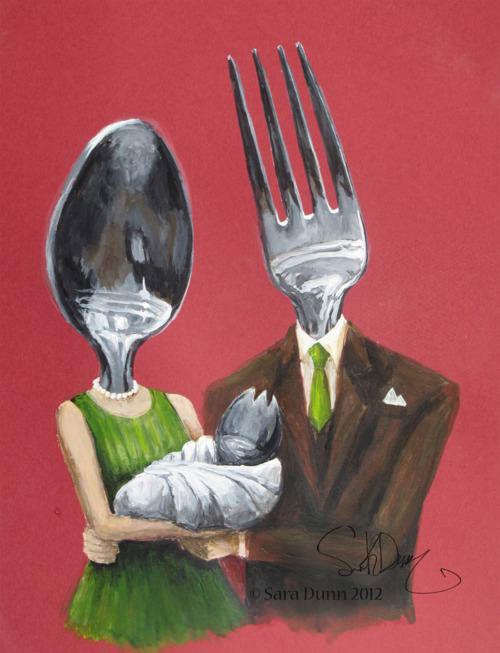 fork, spoon, spork
