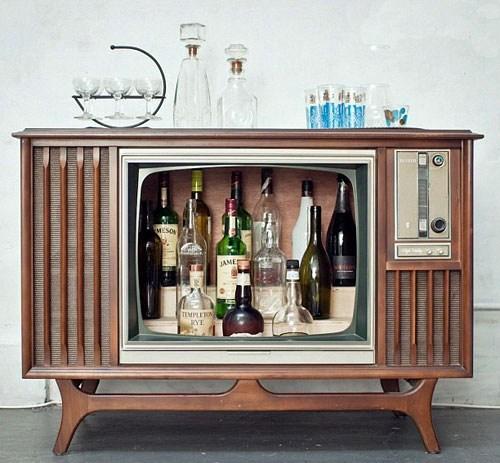 tv, liquor cabinet, win, idea
