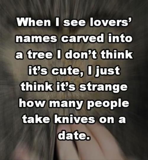 date, knives, tree, carving, lol